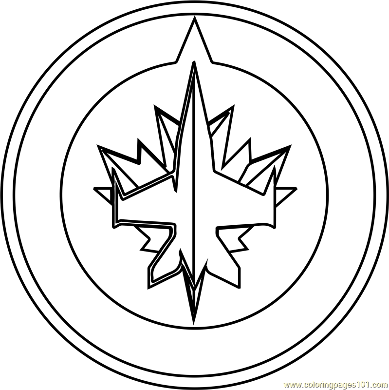 winnipeg jets coloring pages winnipeg jets logo coloring page free printable coloring pages coloring jets winnipeg