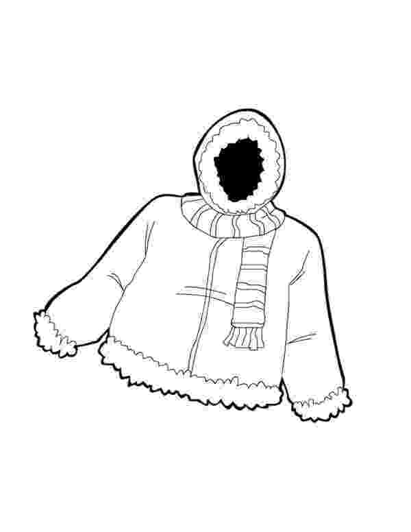 winter coat coloring page warm jacket in winter season coloring page coloring sky winter coat page coloring