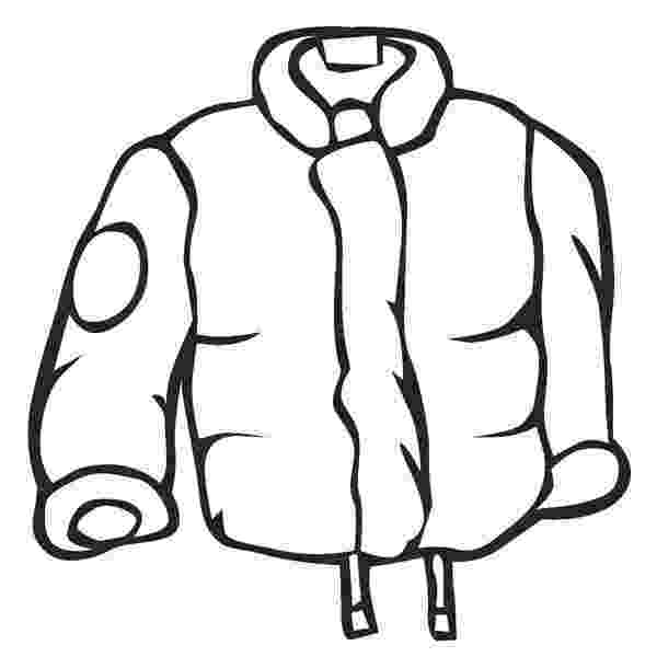 winter coat coloring page winter clothes clipart black and white free download on coloring coat winter page