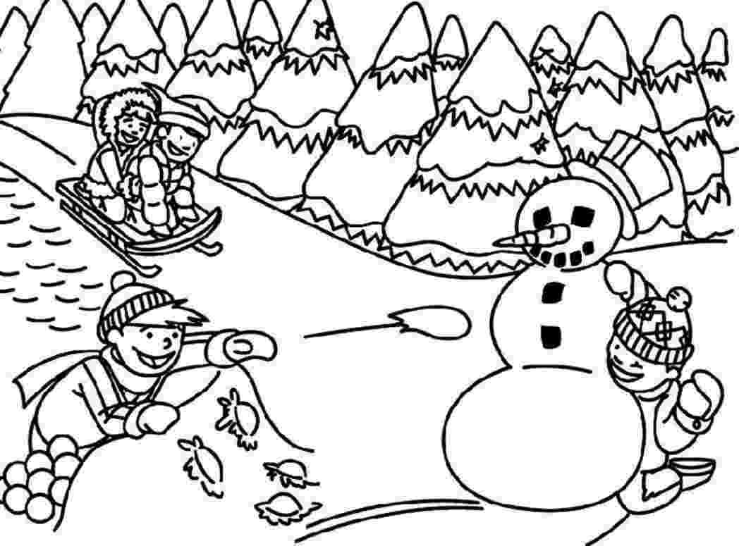 winter scene coloring pages bluebonkers winter coloring farm house in the snow scene coloring winter pages