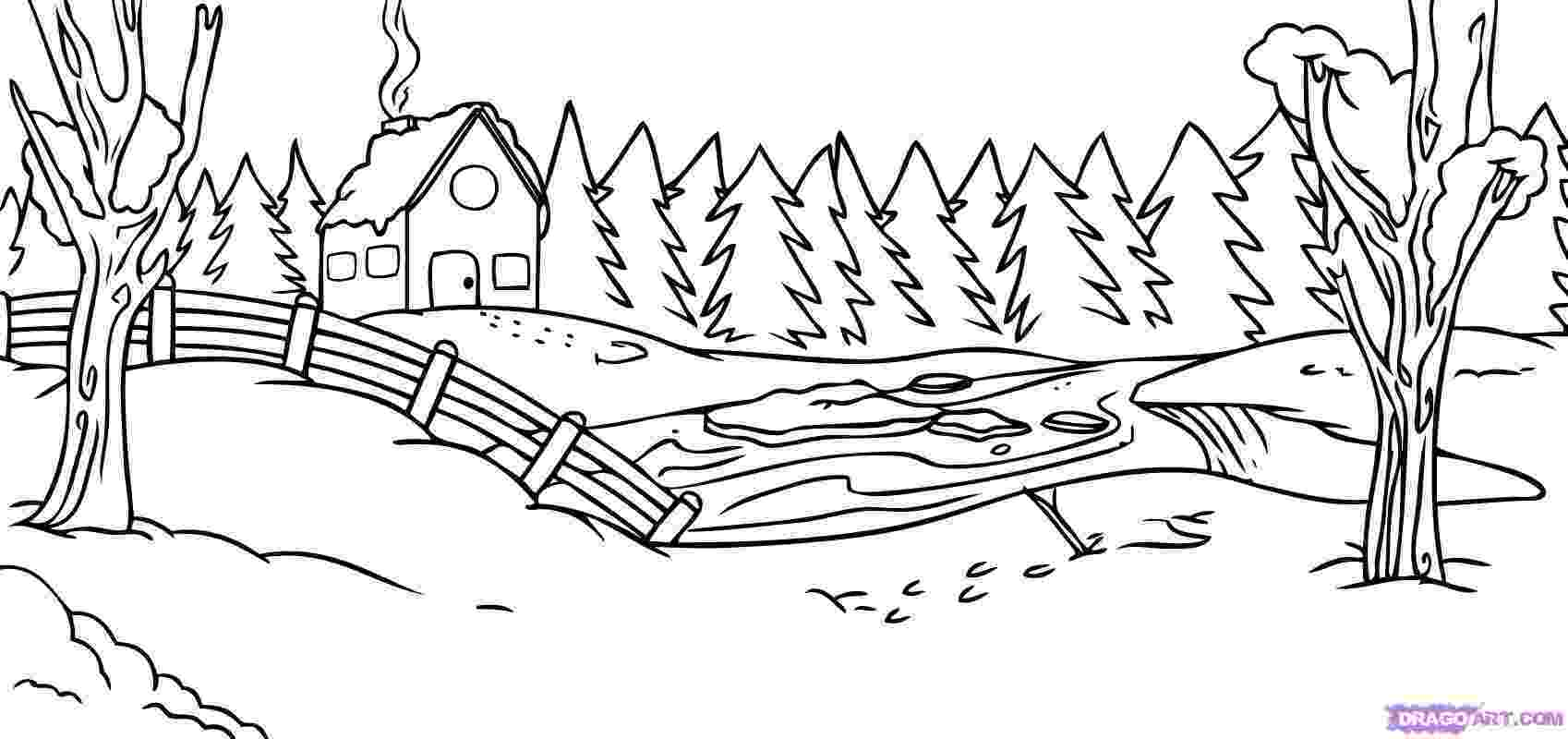 winter scene coloring pages free printable coloring pages of winter scenes coloring home scene winter pages coloring