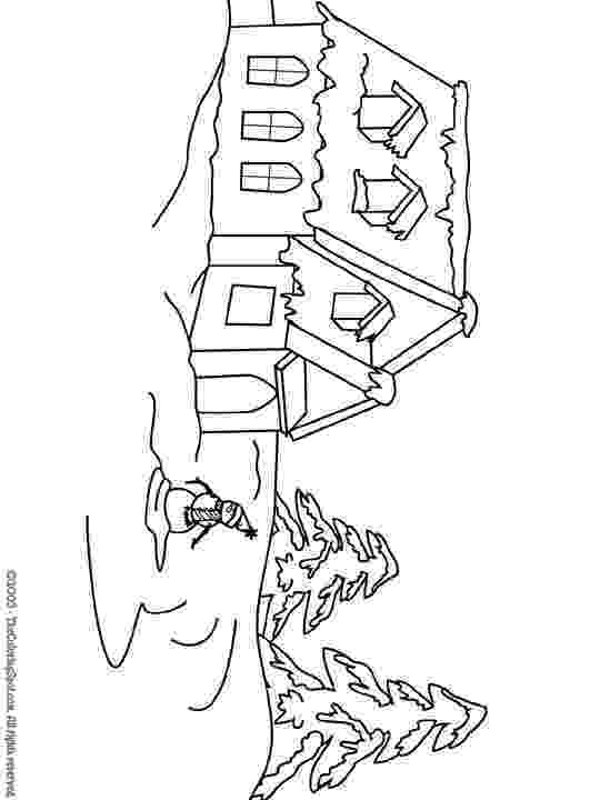 winter scene coloring pages free printable winter coloring pages for kids winter scene pages coloring