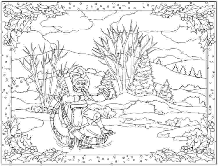 winter scene coloring pages lemon squeezy day 24 children39s coloring page coloring winter pages scene