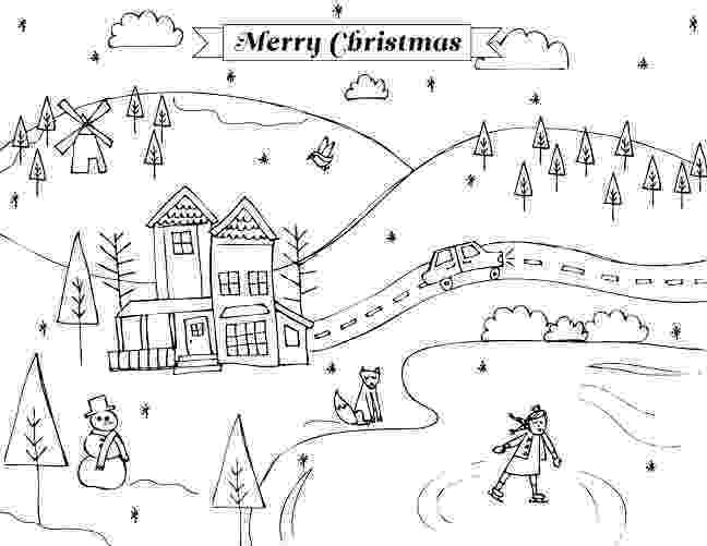 winter scene coloring pages printable winter scene coloring pages coloring home coloring winter scene pages