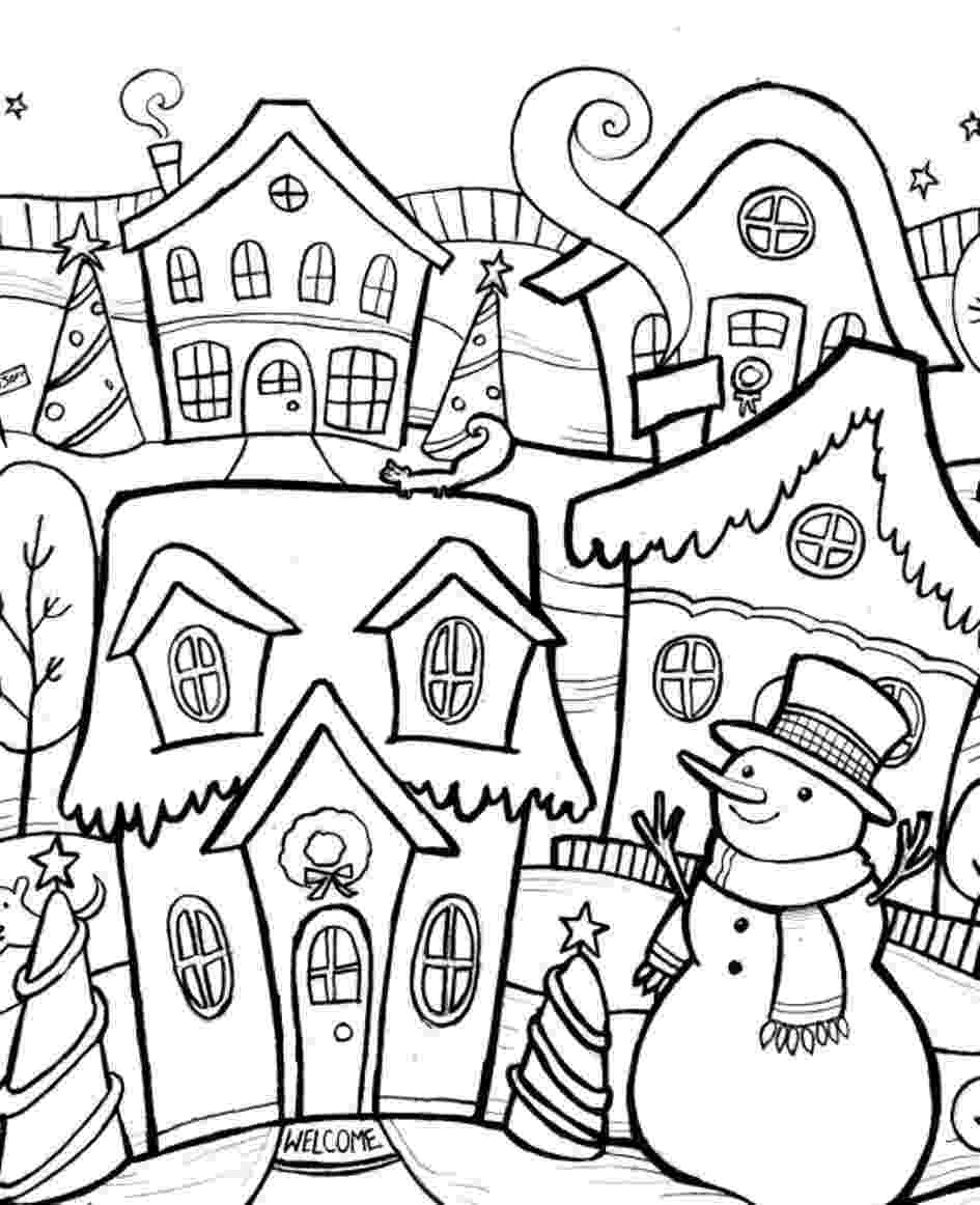 winter scene coloring pages printable winter scene coloring pages coloring home pages scene coloring winter