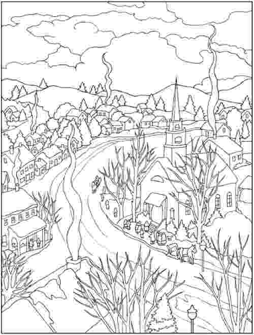 winter scene coloring pages winter coloring pages 360coloringpages winter coloring scene pages