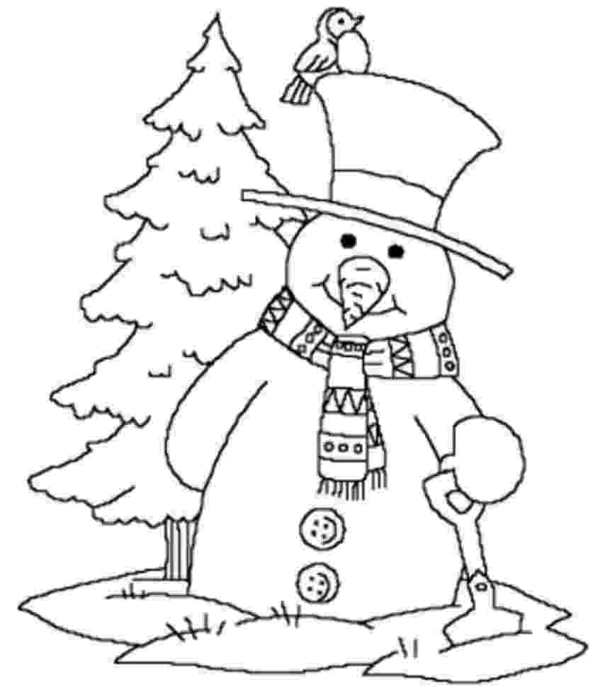winter scene coloring pages winter coloring pages print winter pictures to color pages winter coloring scene