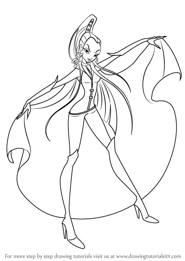 winx club pictures black and white winx princess coloring pages download and print for free and pictures black winx club white