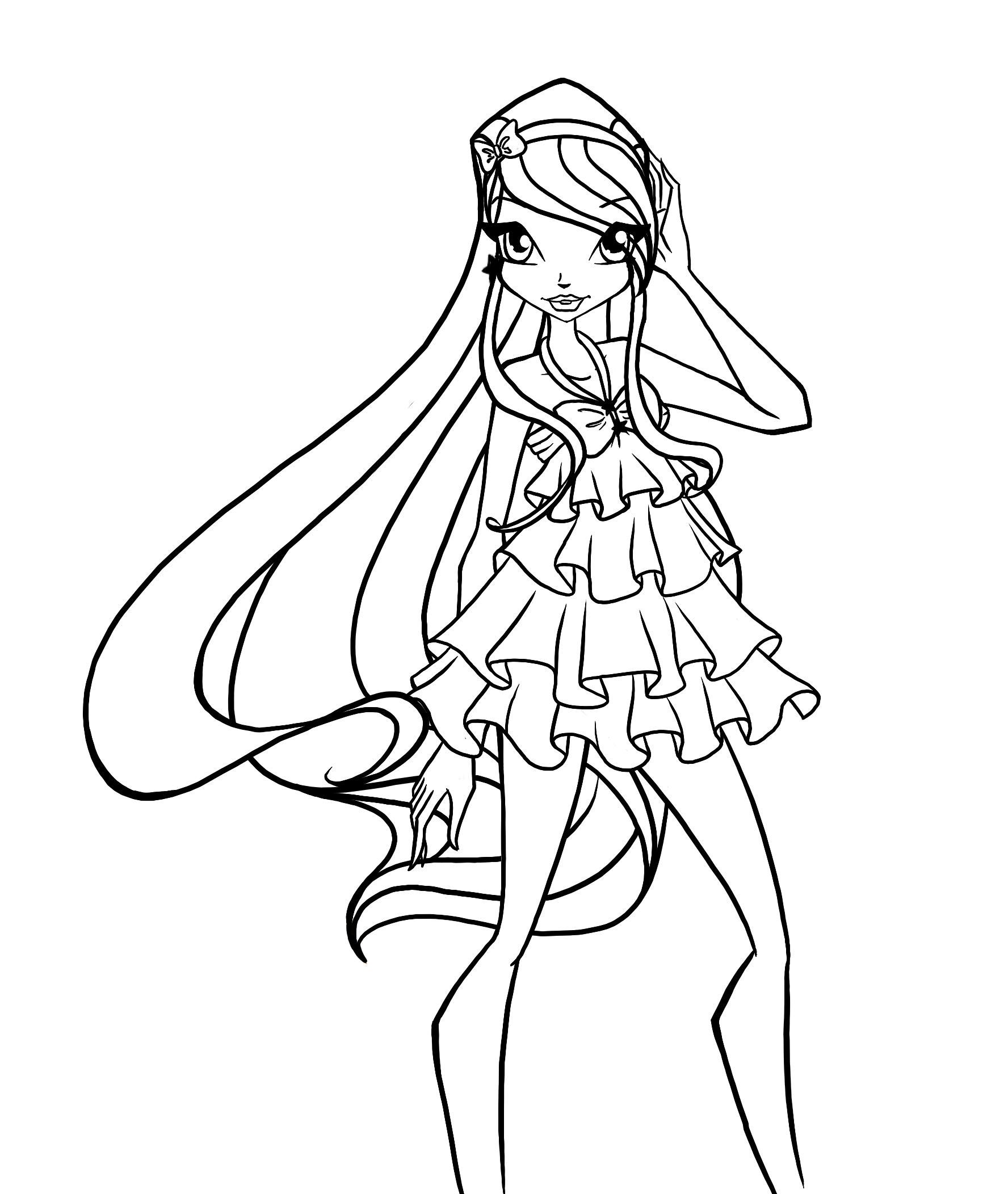 winx club pictures black and white winx princess coloring pages download and print for free black pictures and winx white club
