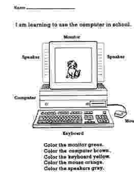 worksheet for kindergarten computer parts of a computer worksheet by afreenkh teaching kindergarten worksheet computer for
