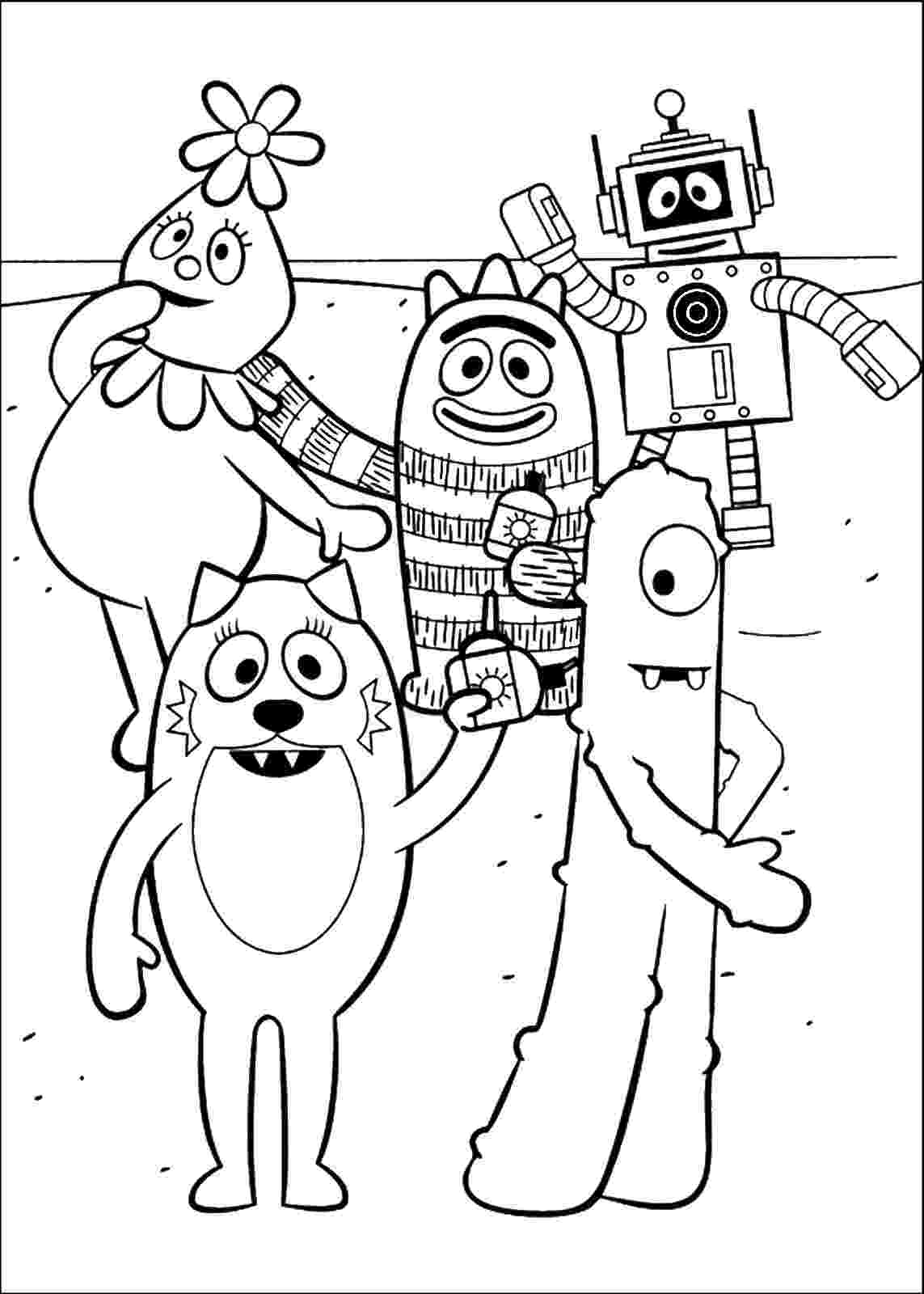 yo gabba gabba pictures to print yo gabba gabba coloring pages pictures to yo gabba gabba print