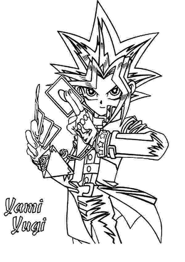 yu gi oh coloring pages yugi muto from yu gi oh coloring page free printable gi yu coloring pages oh