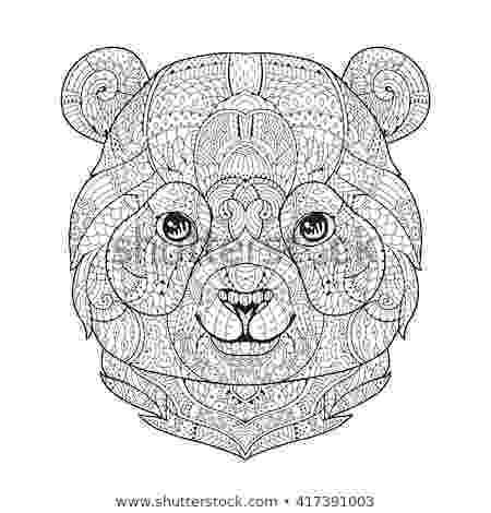 zen animal coloring book panda drawing stock images royalty free images vectors coloring zen animal book