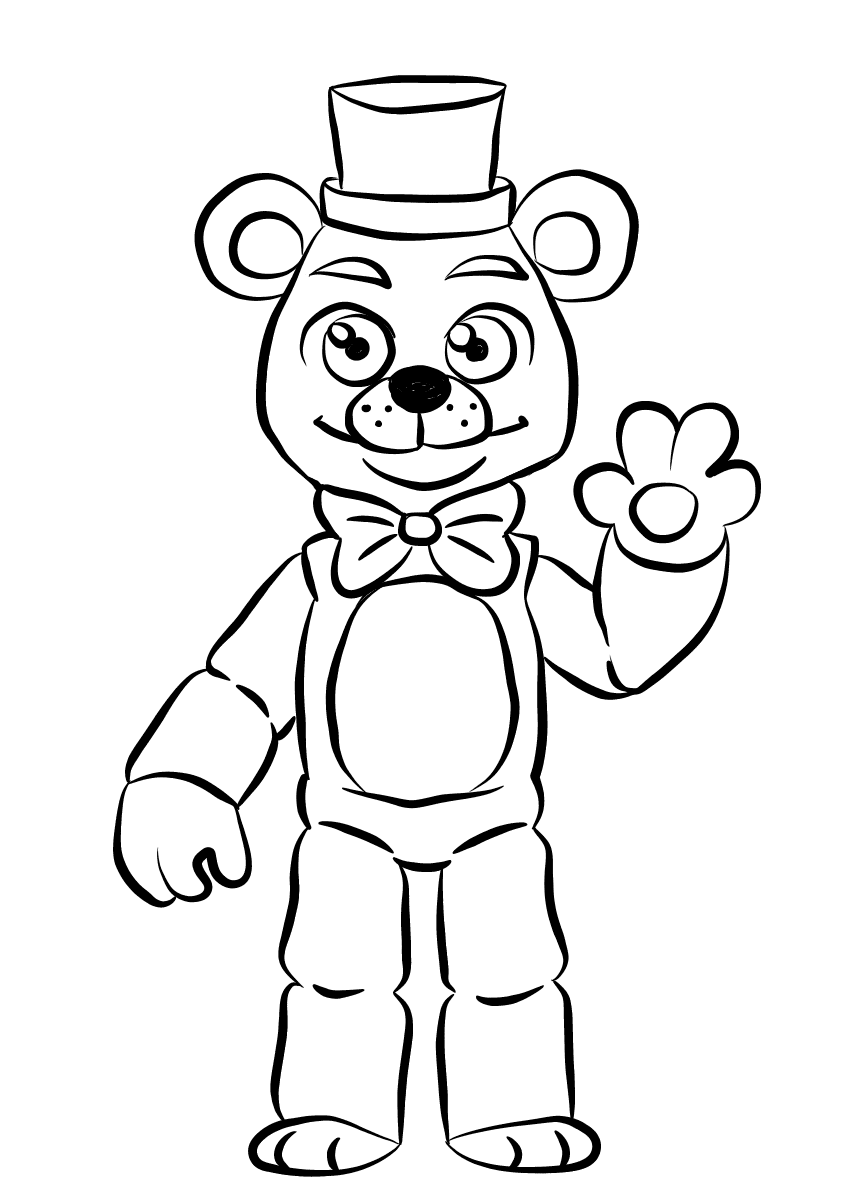 5 nights at freddys colouring pictures free printable five nights at freddy39s fnaf coloring pages colouring freddys nights at 5 pictures