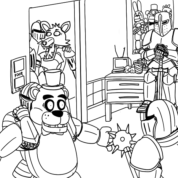 5 nights at freddys colouring pictures golden freddy coloring pages at getcoloringscom free pictures freddys at colouring 5 nights