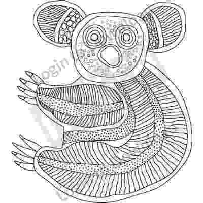 aboriginal art for kids printable printable the bunyip animal jigsaws or for dot painting kids aboriginal printable art for