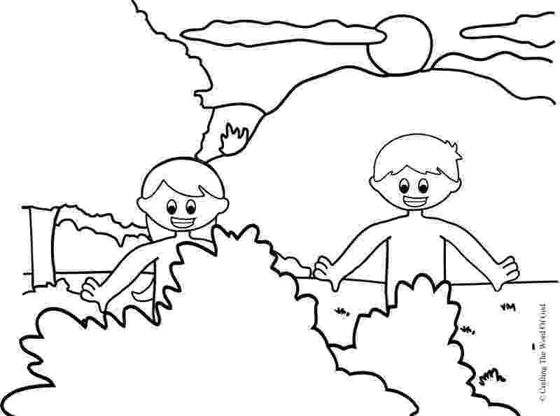 adam and eve coloring pages adam and eve crafting the word of god and pages eve adam coloring