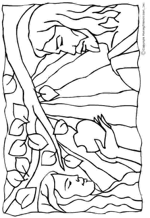 adam and eve coloring pages tiny hearts blog lesson 11 adam and eve the very first sin coloring eve adam pages and
