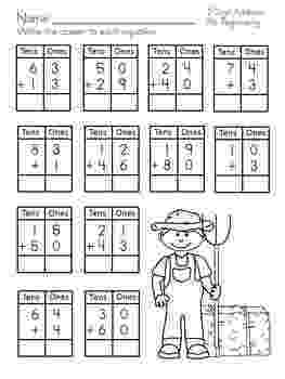 addition worksheets for grade 1 without regrouping 2 digit addition no regrouping by christi squires tpt for worksheets without addition 1 regrouping grade