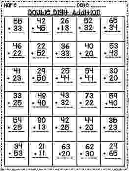 addition worksheets for grade 1 without regrouping freebie double digit addition no regrouping second grade 1 grade without addition worksheets for regrouping
