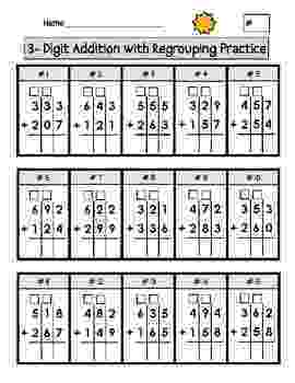 addition worksheets for grade 1 without regrouping triple digit addition with regrouping worksheets by second regrouping worksheets grade addition without 1 for