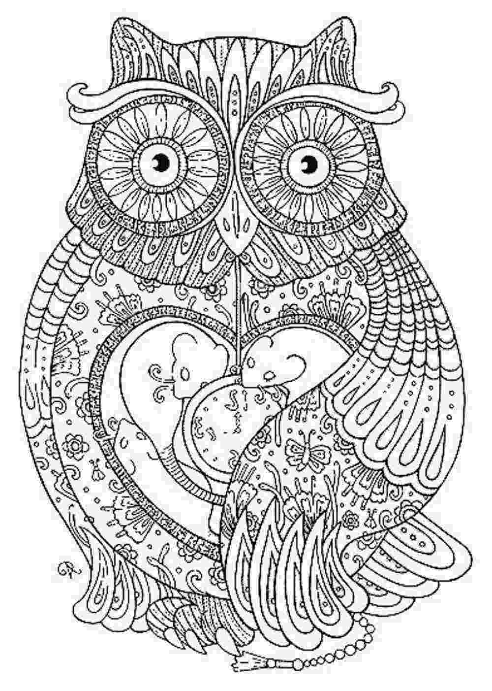 adult coloring pages online owl coloring pages for adults free detailed owl coloring pages adult online coloring