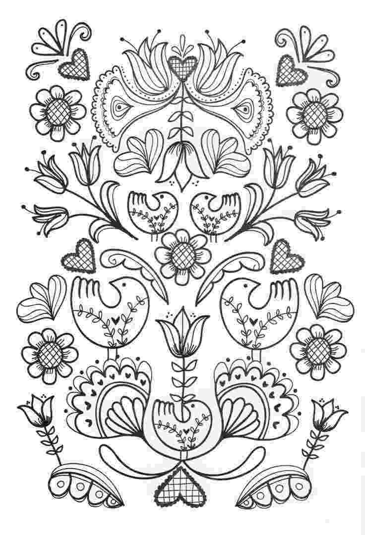 adult coloring pages online pin by deanna lea on color plants folk embroidery pages adult online coloring