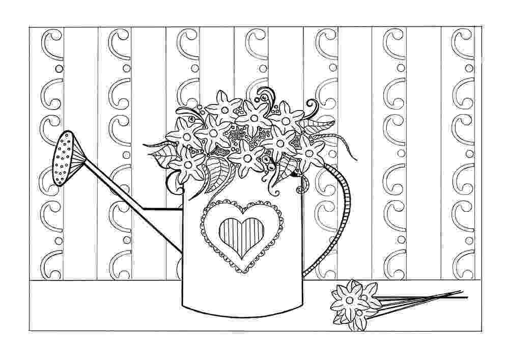 adult coloring pages online spring flowers adult coloring page favecraftscom coloring pages adult online
