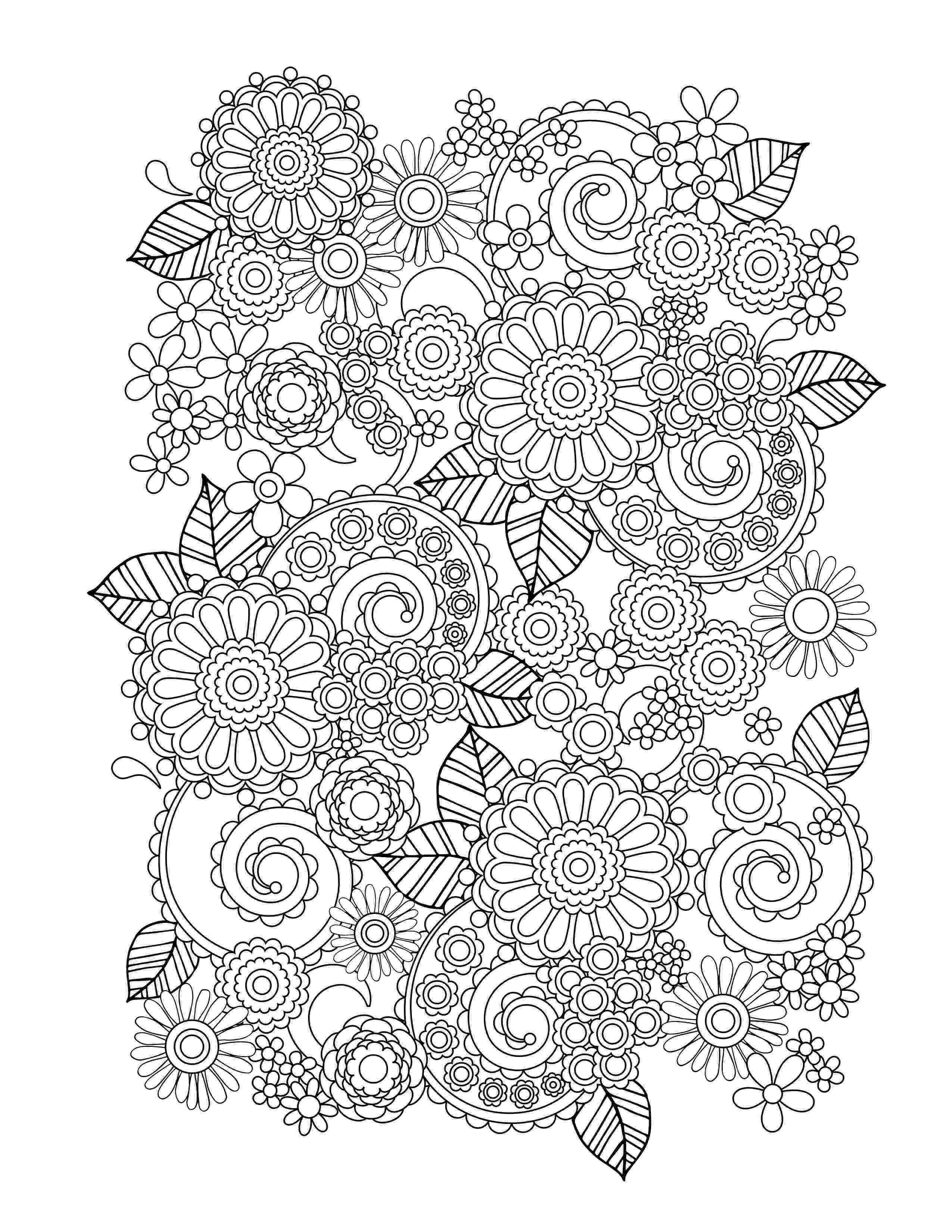 adult flower coloring pages cute spring flowers flowers adult coloring pages adult coloring pages flower