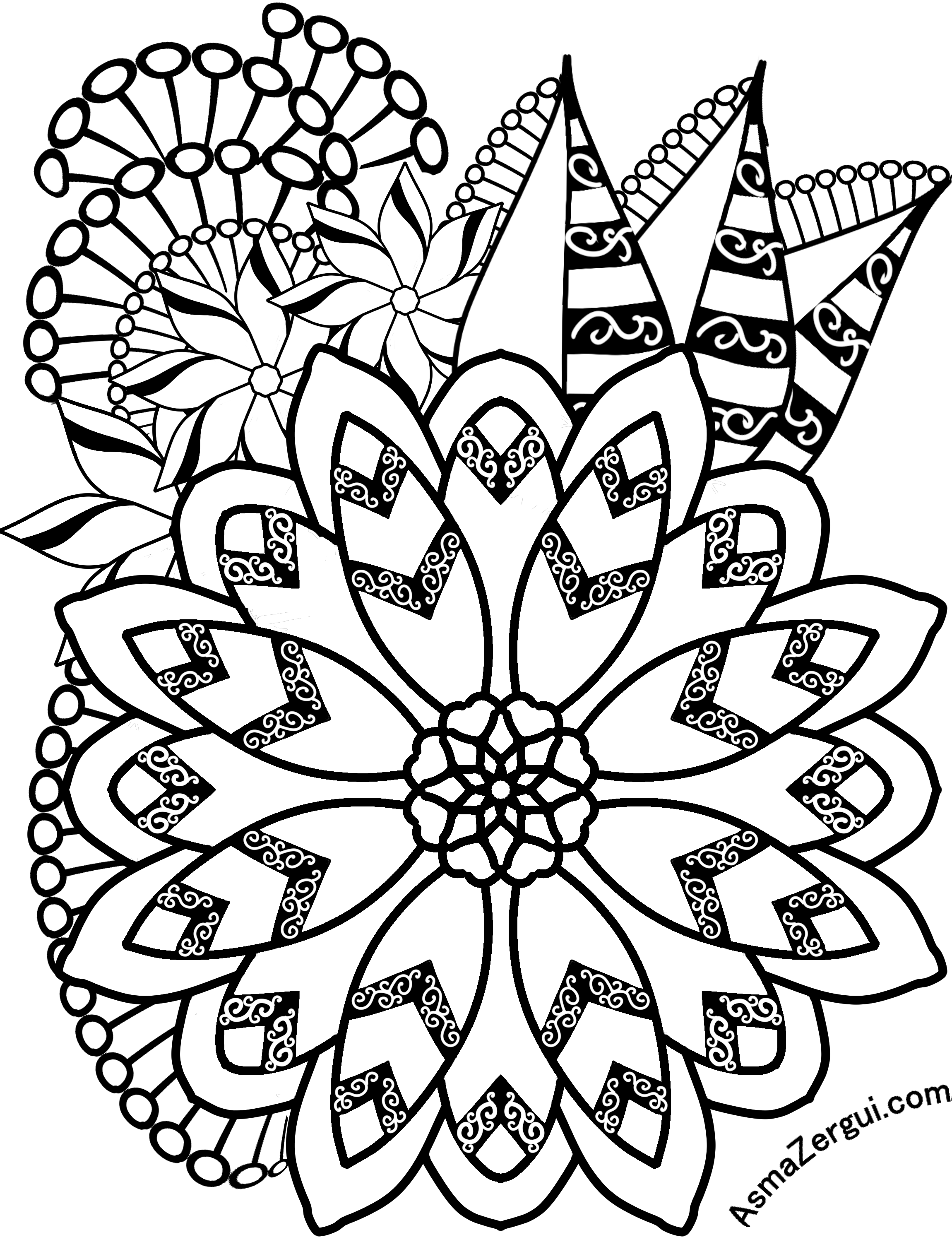 adult flower coloring pages flower coloring pages 360coloringpages pages flower adult coloring