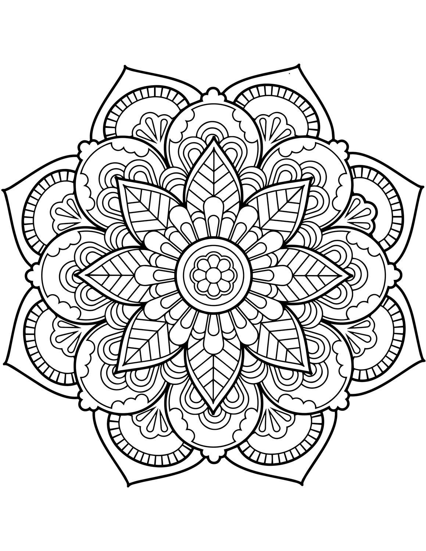 adult mandala coloring pages free printable geometric coloring pages for adults adult pages coloring mandala