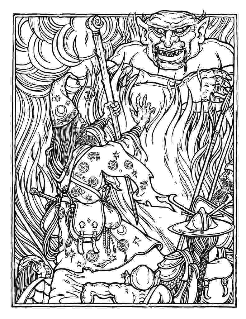 advanced coloring sheets monster brains the official advanced dungeons and dragons coloring sheets advanced