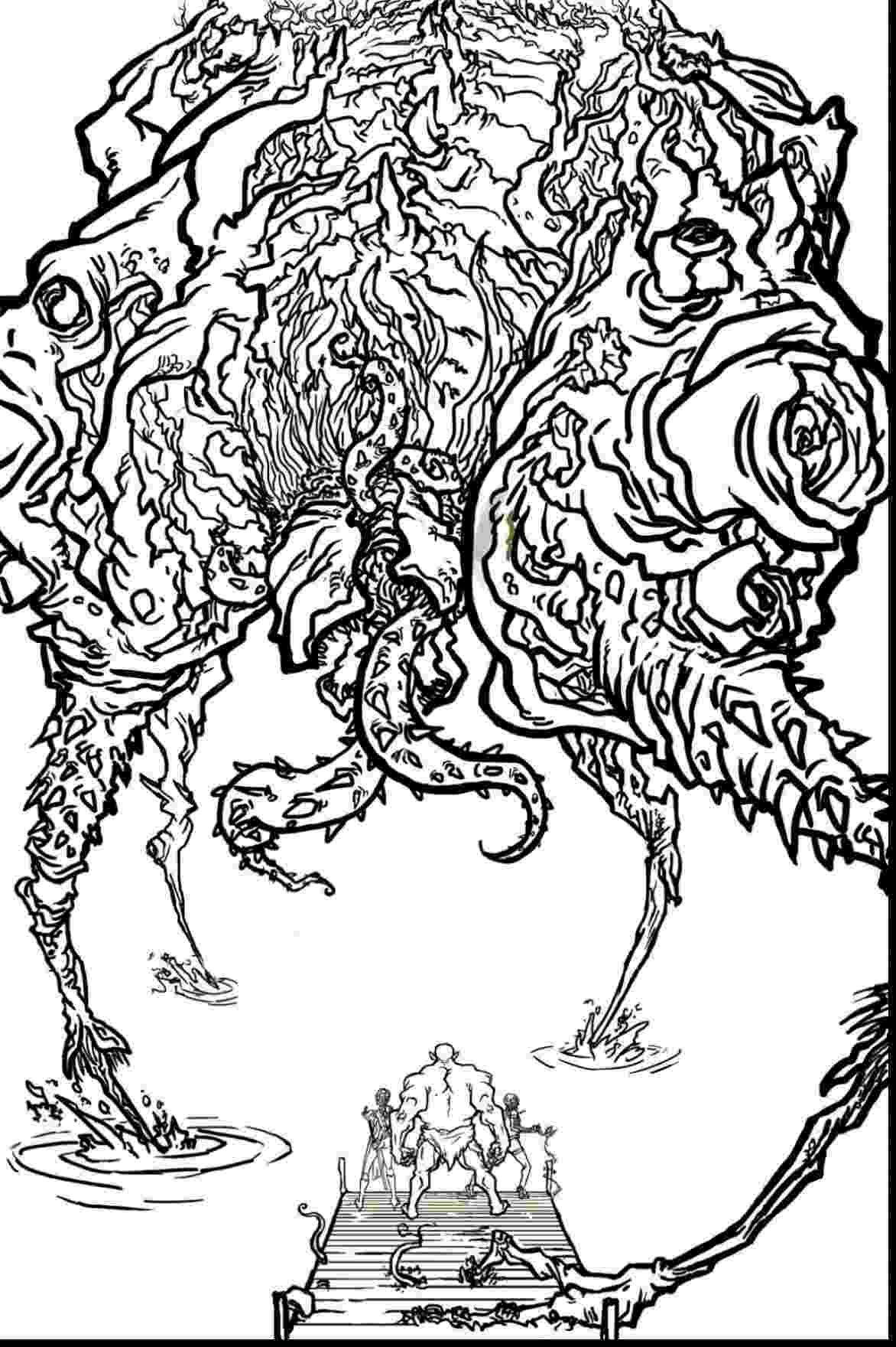 advanced coloring sheets monster brains the official advanced dungeons and dragons sheets advanced coloring