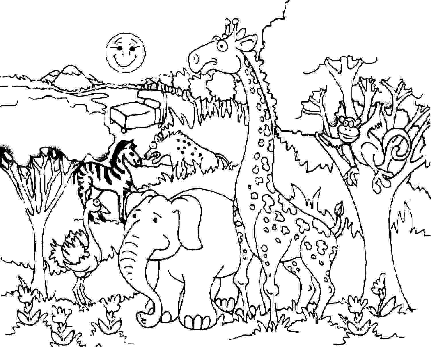 african savanna coloring pages mount kilimanjaro coloring page free africa coloring coloring pages savanna african