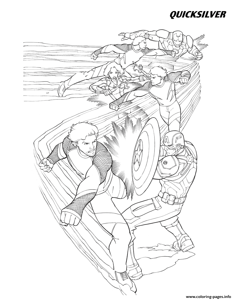 age of ultron coloring book quicksilver from the avengers coloring pages printable coloring ultron age book of