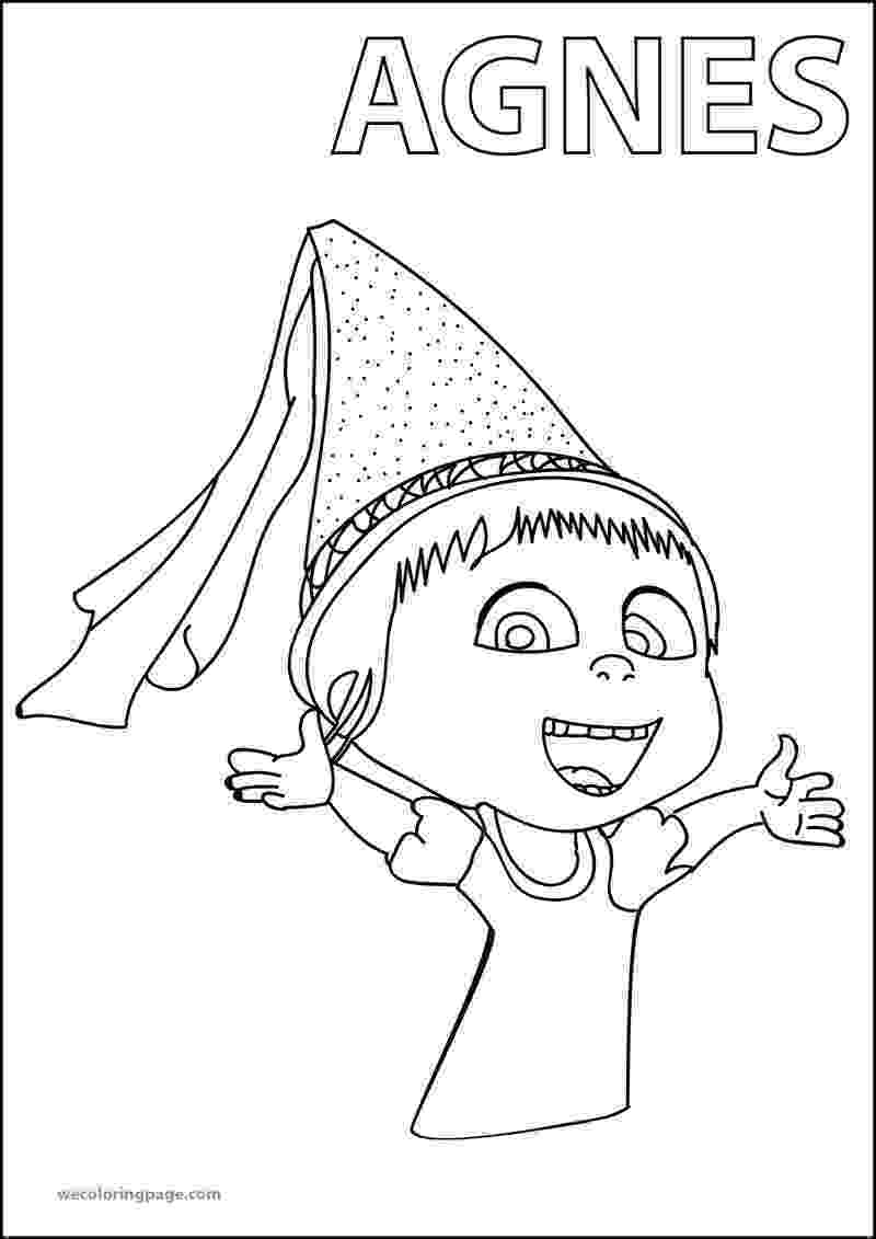 agnes from despicable me agnes despicable me 2 happy coloring page fun stuff from despicable agnes me