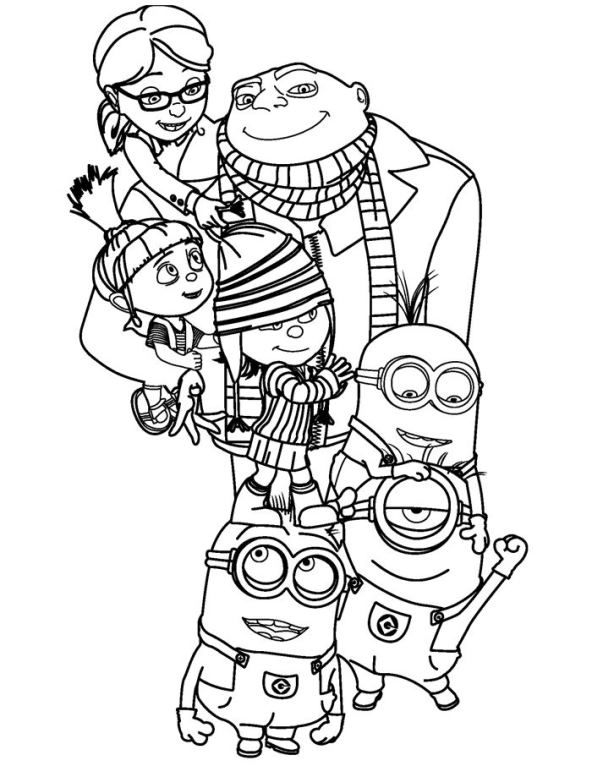 agnes from despicable me minion färbung seite coloring page despicable me gru agnes me despicable from agnes