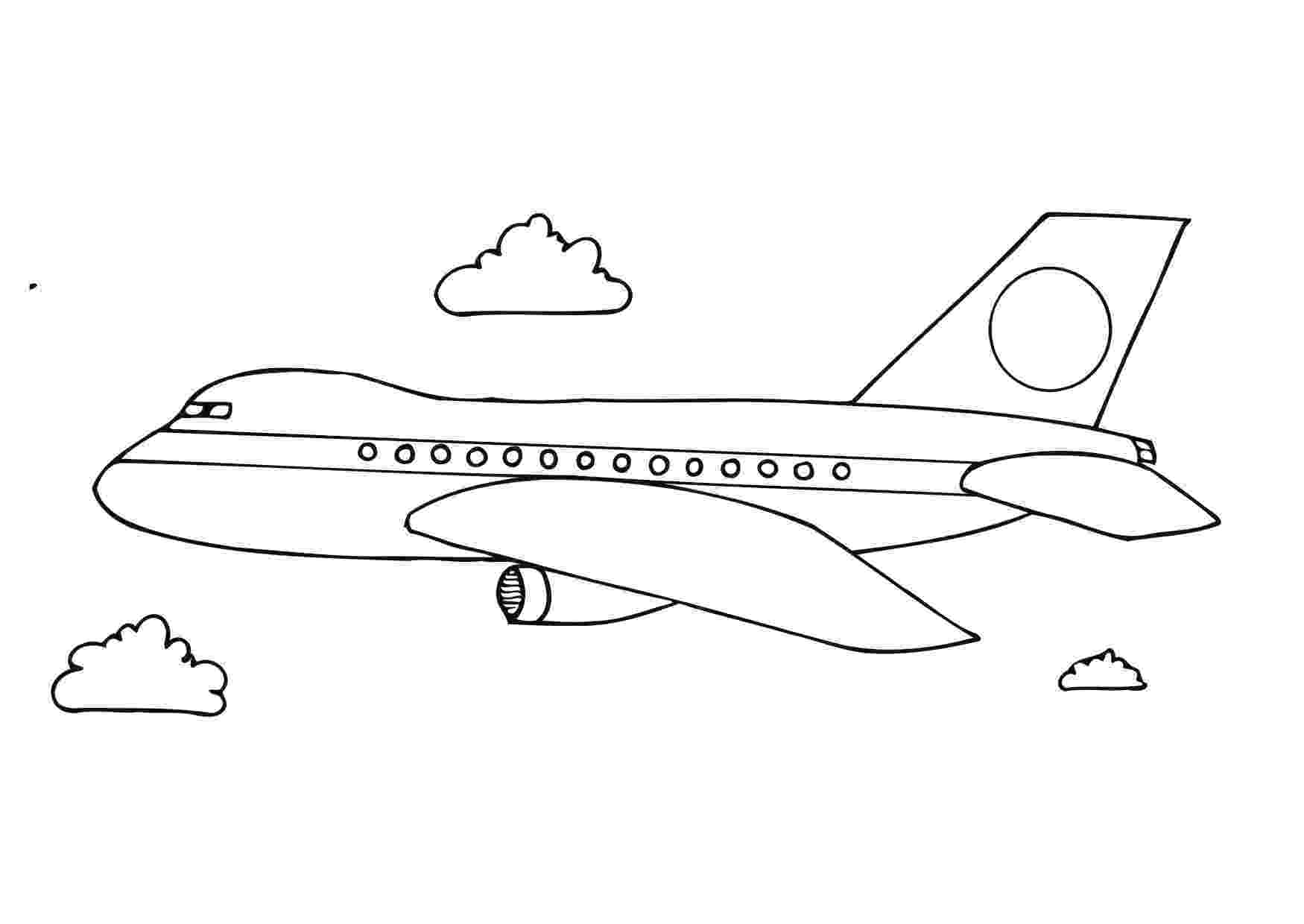 airplane color pages airplanes letmecolor color airplane pages