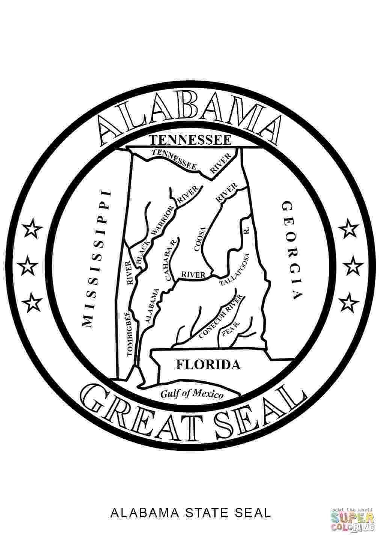 alabama state seal picture alabama state symbols coloring pages coloring home picture seal state alabama