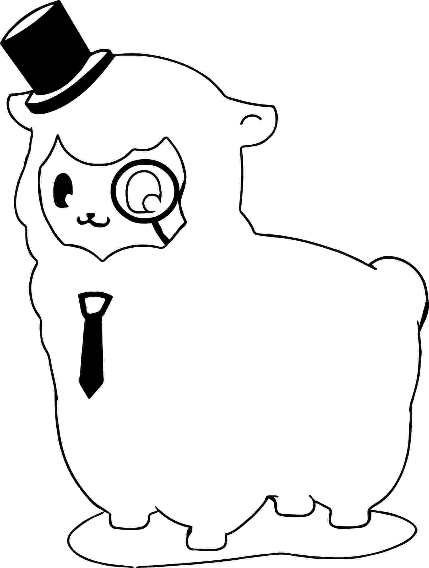 alpaca coloring pages alpaca coloring page free printable coloring pages pages alpaca coloring