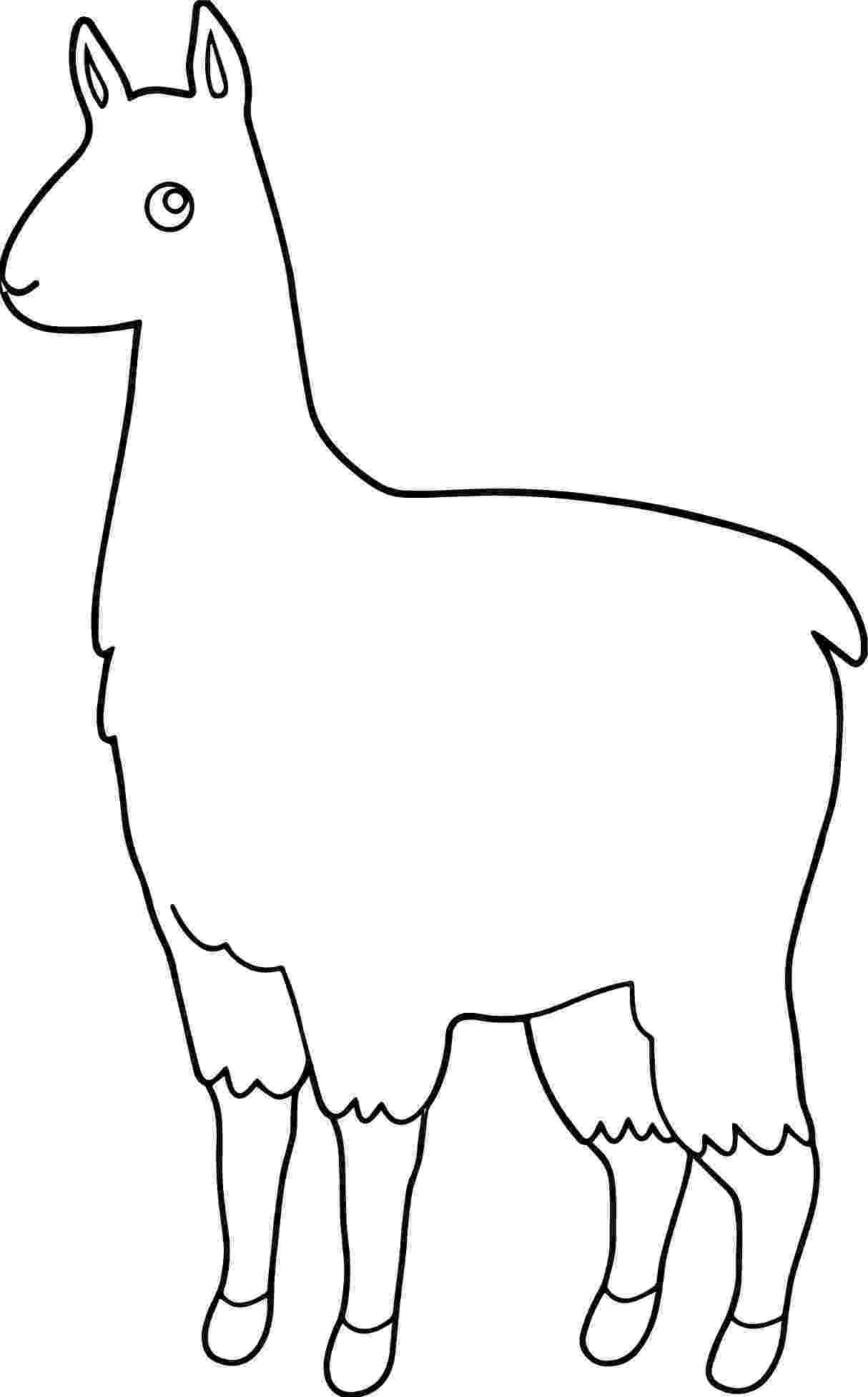 alpaca coloring pages alpaca coloring pages printable pages coloring alpaca
