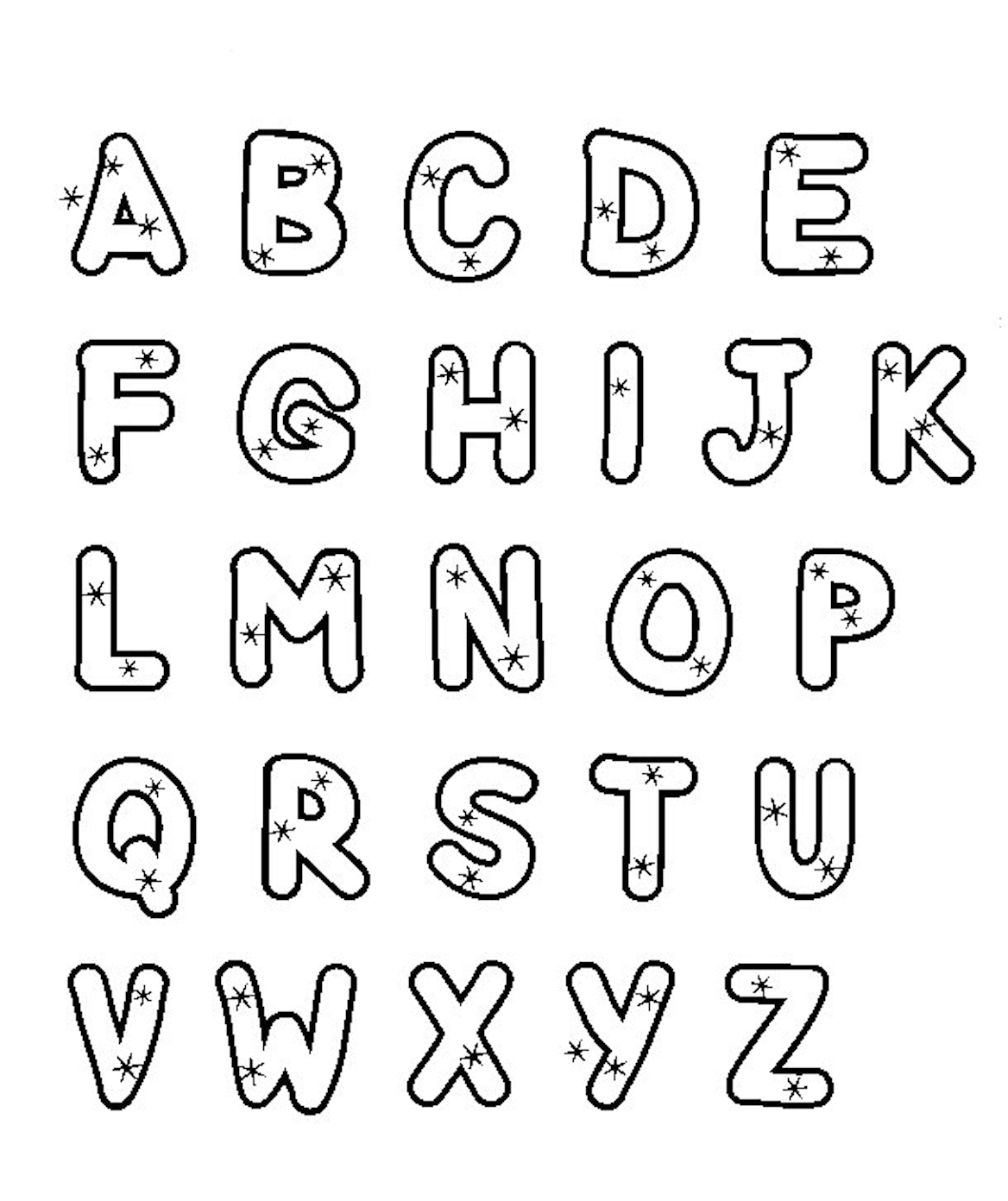 alphabet coloring free printable alphabet coloring pages for kids best alphabet coloring
