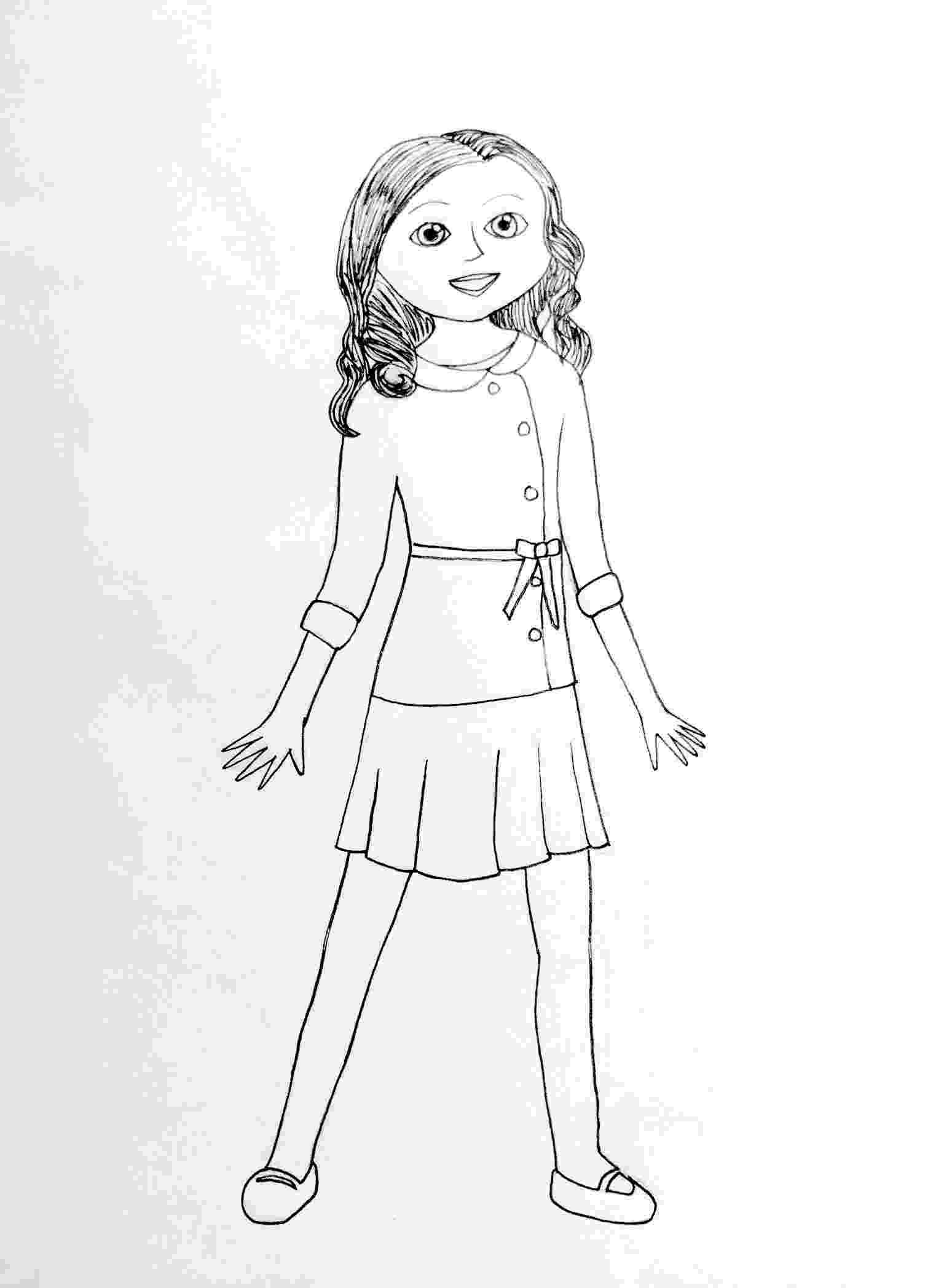 american girl coloring american girl doll julie coloring page free printable coloring girl american