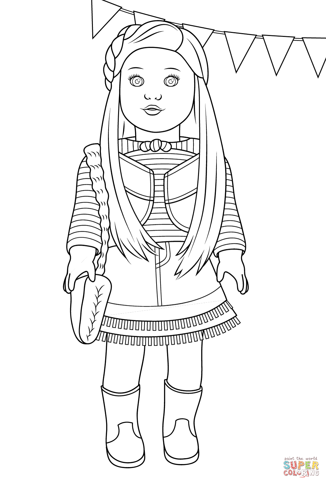 american girl coloring pages printable american girl isabelle doll coloring page free printable coloring pages girl american printable