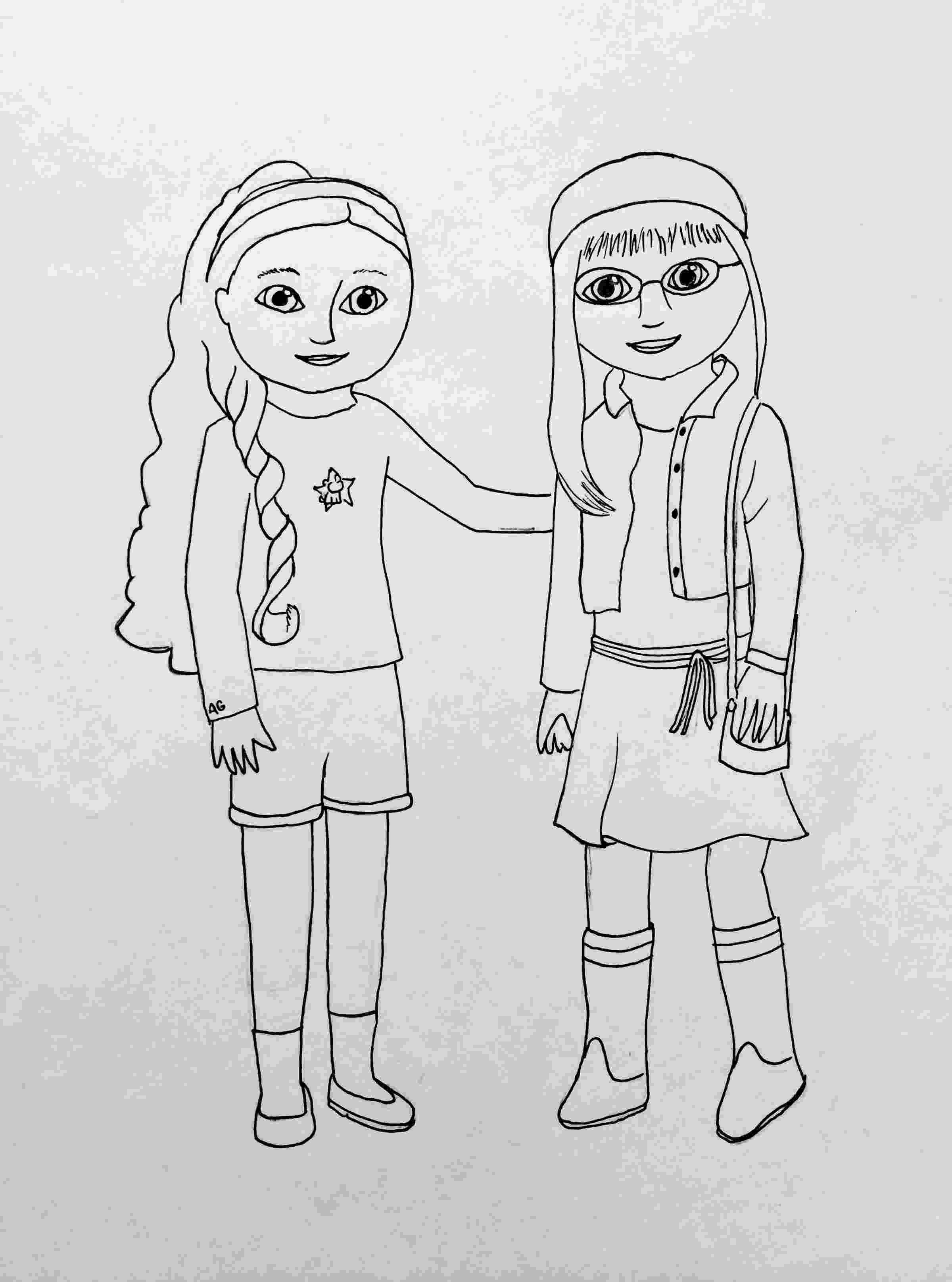 american girl doll free coloring pages american girl isabelle doll coloring page free printable coloring girl american doll free pages