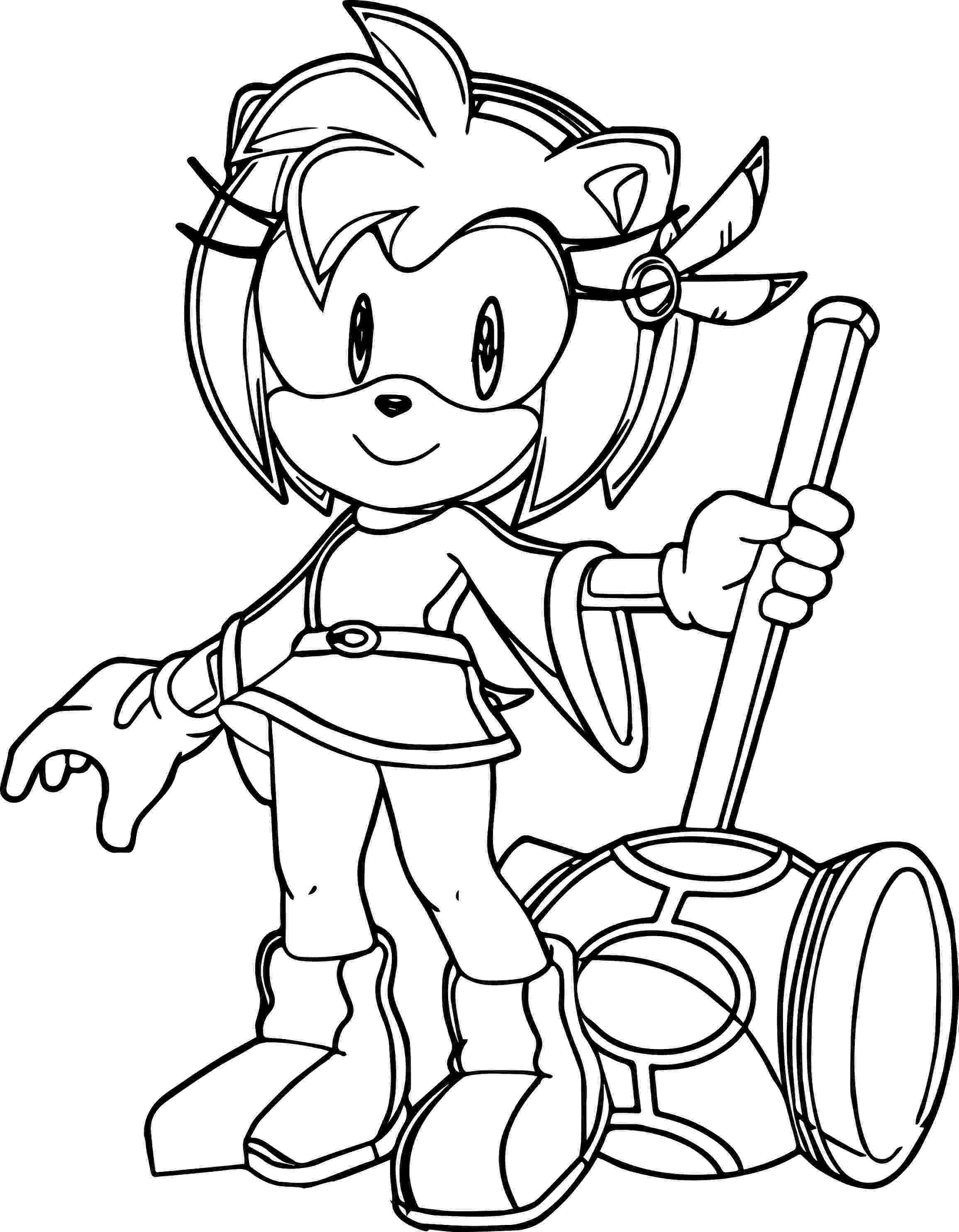 amy rose coloring pages amy rose coloring pages to download and print for free coloring pages amy rose