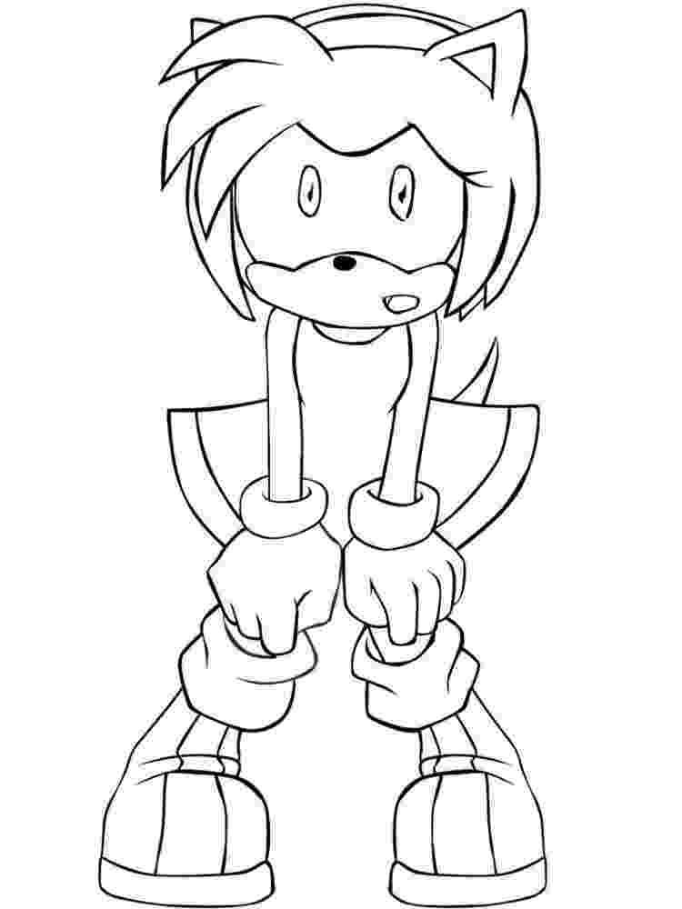 amy rose coloring pages amy rose one coloring pages wecoloringpagecom coloring pages amy rose