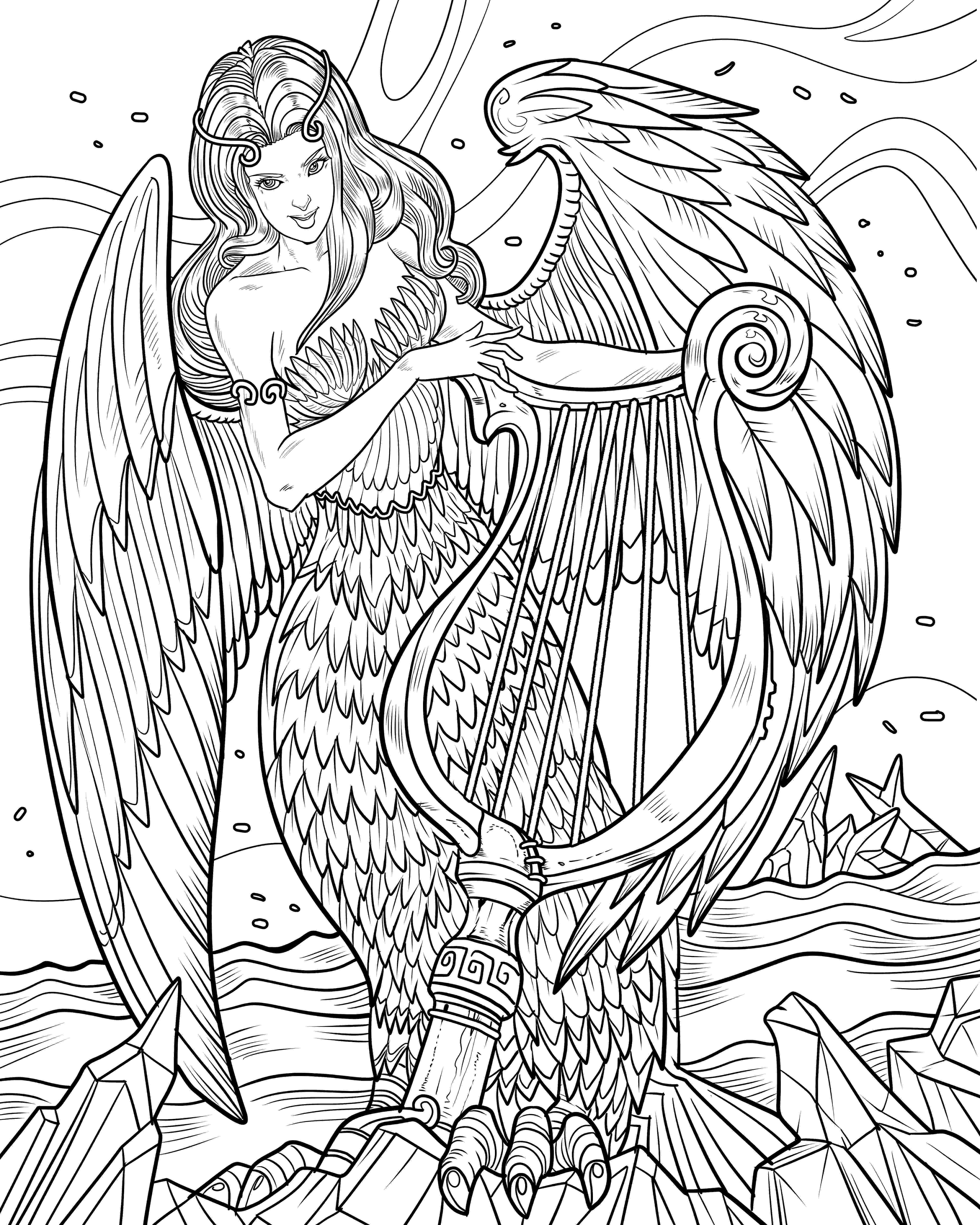 angel flower girl coloring book mythological life adult coloring books nathaniel wake coloring book flower angel girl
