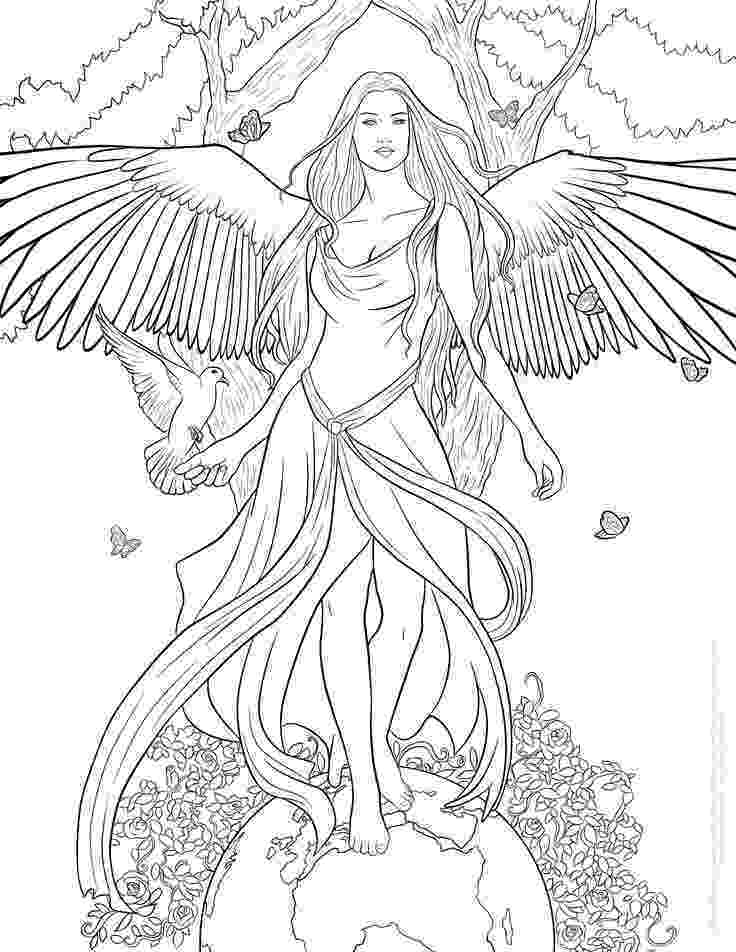 angel flower girl coloring book pin by erica nicole on color me crazy angel coloring coloring girl flower book angel