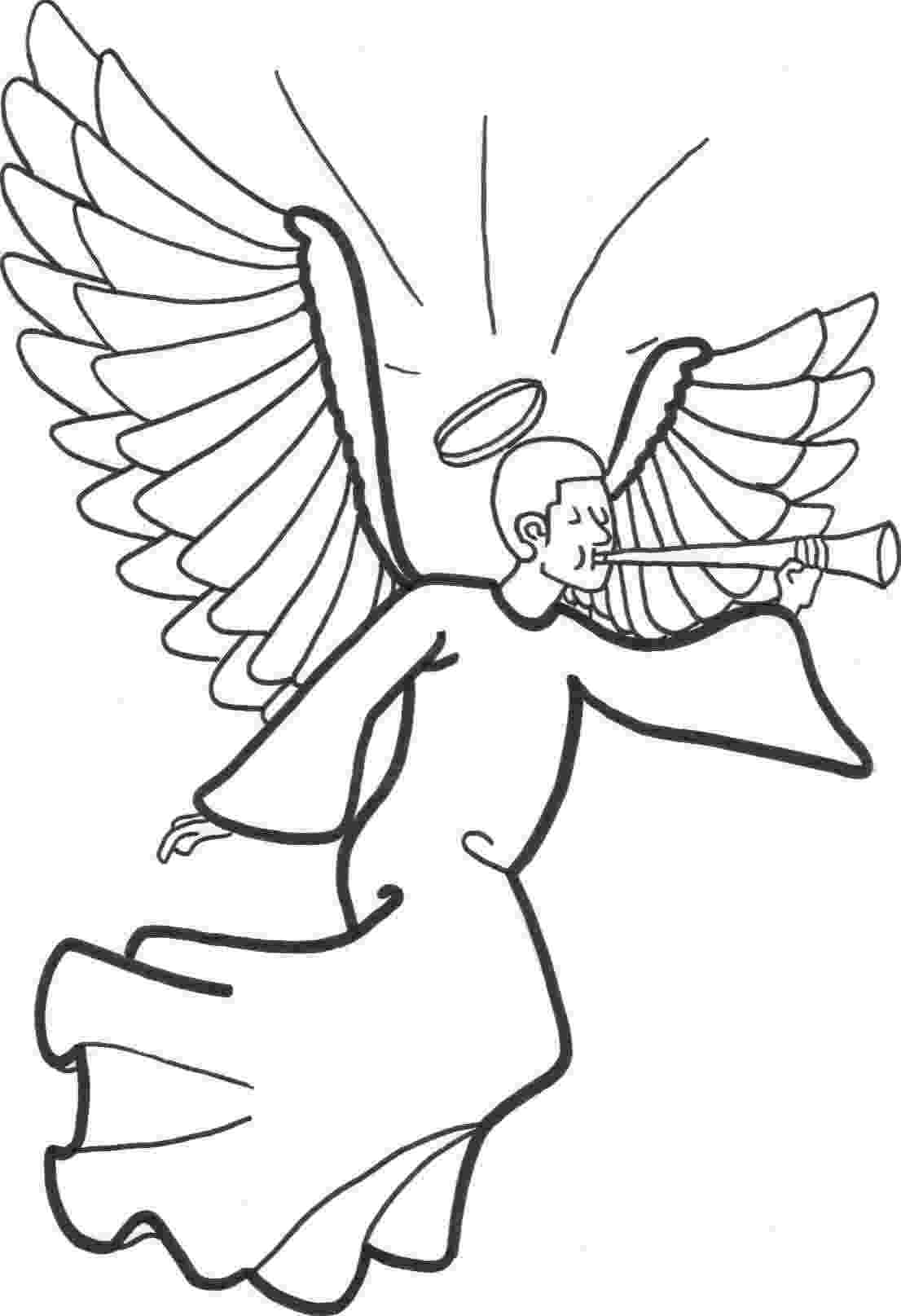 angel pictures to color free printable angel coloring pages for kids angel to pictures color